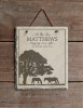 Rustic Horse Farm Personalized Slate Wall Sign