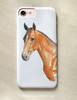 Bay Horse Head Equestrian Phone Case