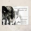 Pony Love Equestrian Wedding RSVP card (10 pk)