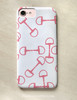 Pink and White Horse Bit Pattern Phone Case