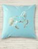 Metallic Foil Printed Dressage Horse Square Pillow