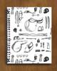 Hunter Jumper Horse Show Essentials Pattern Spiral Notebook