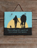 A Good Ride Equestrian Slate Wall Sign