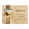 Rustic Beach Themed Wedding Invites
