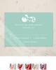 Damask Border Photo Template Wedding RSVP card (10 pk)