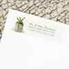 Southwestern Succulent Watercolor Wedding Return Address Labels