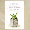 Southwestern Succulent Watercolor Wedding Save The Date Postcards (25 pk)