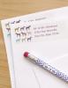 Colorful Horses Return Address Labels