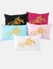 Metallic Foil Printed Hunter Pony Lumbar Pillow