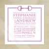 Modern Horse Bit Equestrian Wedding Invitation (25 pk)