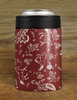 Red Country Floral Horse Pattern Equestrian Can Cooler