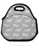 Galloping Horses Pattern Equestrian Lunch Tote Bag