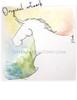 White Horse Blind Contour Original Art
