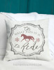 Oh What Fun It Is to Ride Horses Christmas Throw Pillow