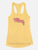 Floral Jumping Horse Equestrian Racerback Tank Top