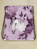 Purple Floral Horse Head Customized Equestrian Drawstring Barn Tote Bag