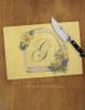 Personalized Horse Stirrup Equestrian Glass Cutting Board