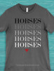 Horses Graphic Equestrian Tee T-Shirt