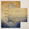 Navy and Gold Bohemian Wedding Invitation (10 pk)