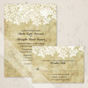 Vintage Queen Anne's Lace Wedding RSVP card (10 pk)