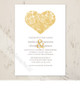 Paisley Heart Wedding Invitation (10 pk)