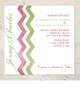 Blue and Pink Zig Zag Wedding Invitation (25 pk)