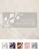 Grey and white elegant fall leaves wedding invitation