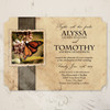 Rustic Country Garden Butterfly Wedding Invitation