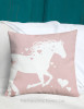 Heart Horse Valentine's Day Throw Pillow