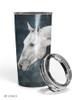 Dappled Gray Horse Travel Tumbler