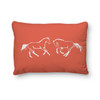 Coral colored Galloping Horses Equestrian themed Throw Pillow