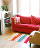 Horse Bits and Stripes Patterned Area Rug