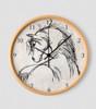Horse head equestrian wall clock