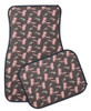 Girly Pink Fly Fishing themed car floor mats