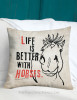 Life is Better With Horses Equestrian Throw Pillow