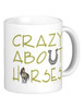 crazy about horses coffee mug