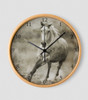 Galloping Grey Horse Wall Clock