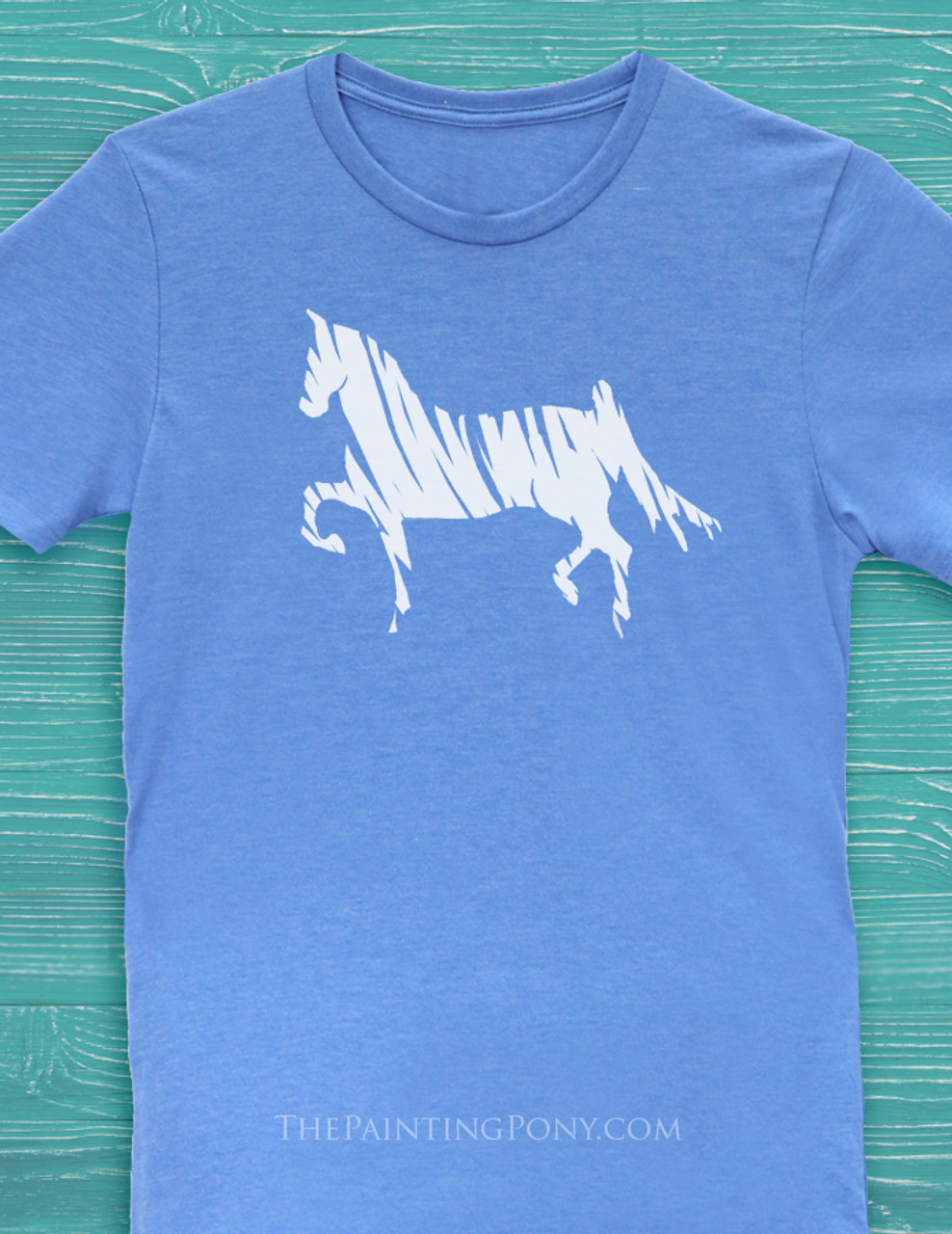 19adceb8 Saddlebred Horse Lover Adult T-Shirt - The Painting Pony