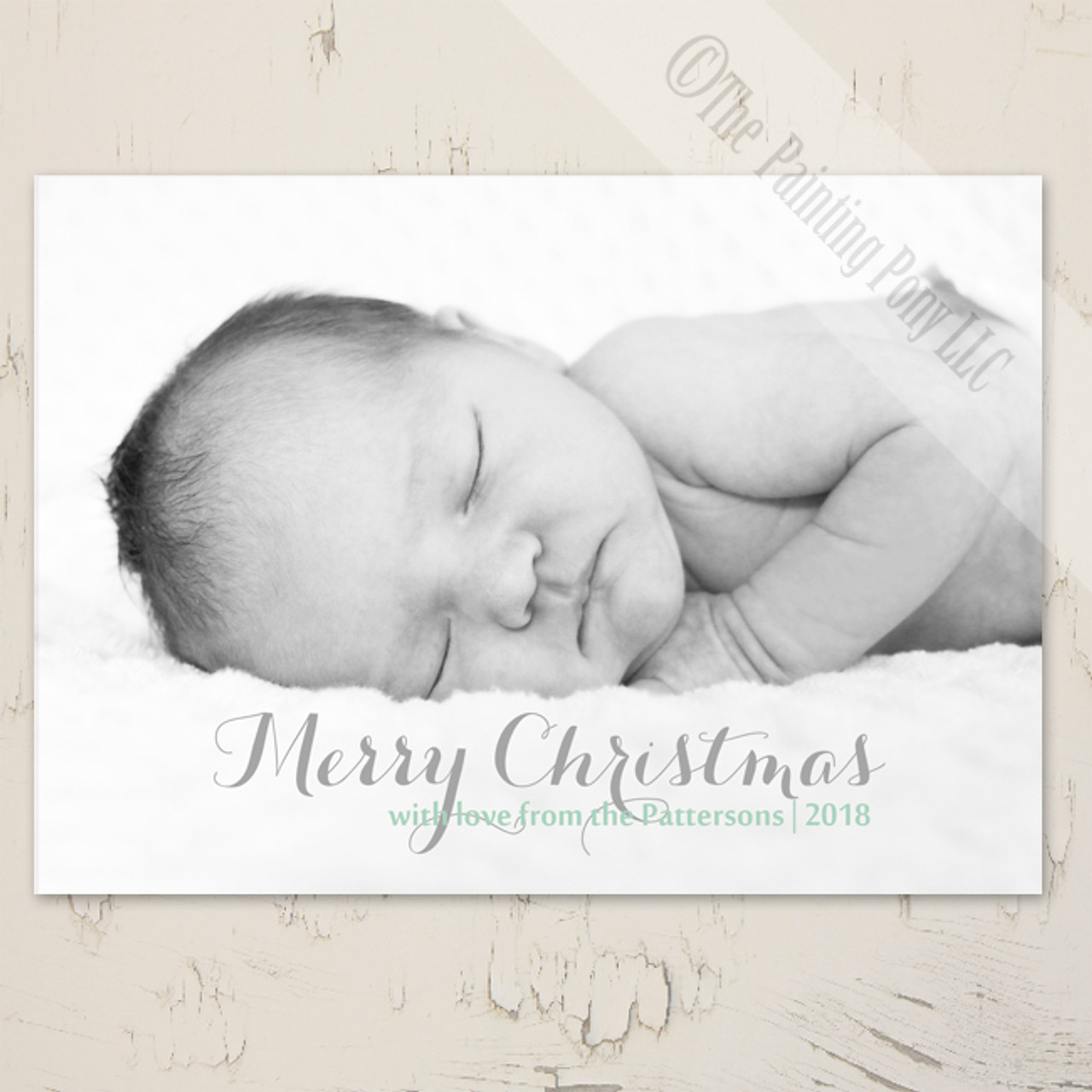 Simple Baby Photo Christmas Card 10 Pk The Painting Pony