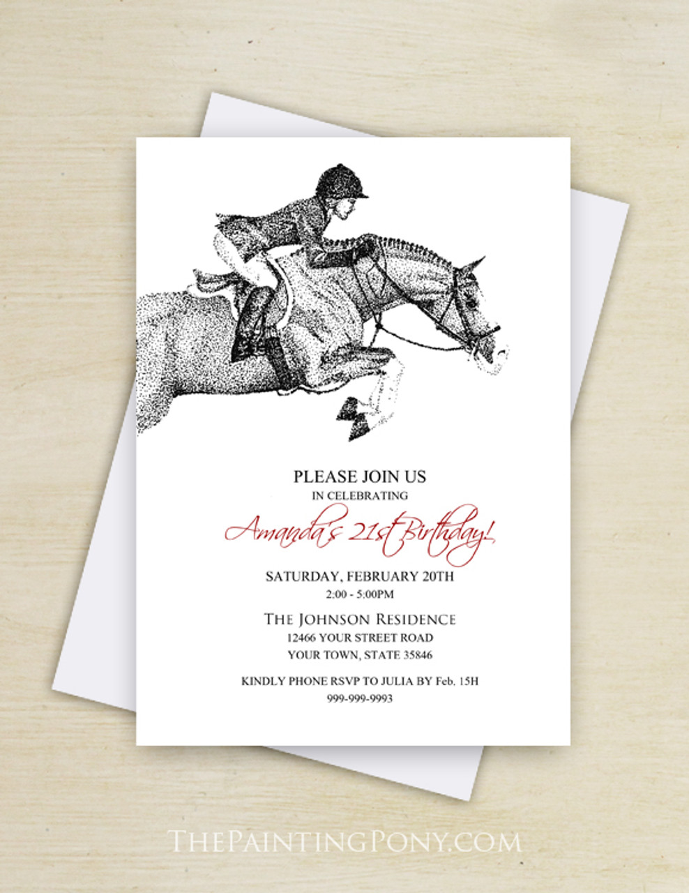 Hunter Pony Birthday Invitation 10 Pk