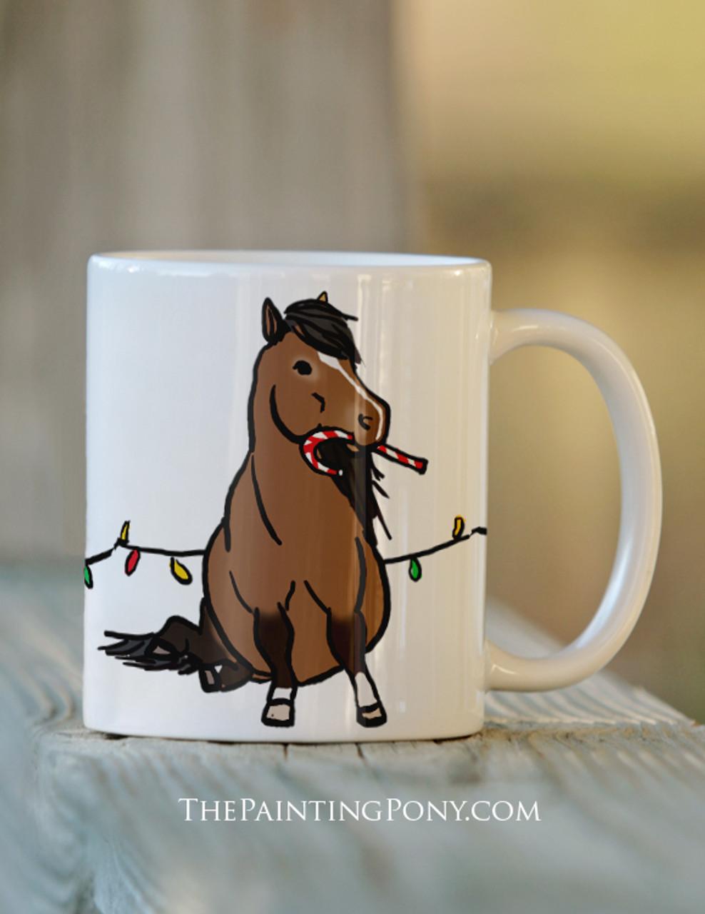 Coffee Christmas Equestrian Pony Coffee Christmas Pony Christmas Equestrian Mug Pony Equestrian Mug pqSVMUz