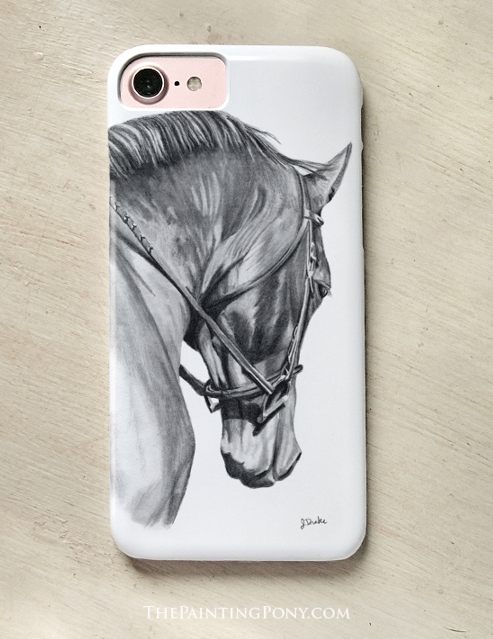 Collected Horse Head Art Equestrian Phone Case The Painting Pony