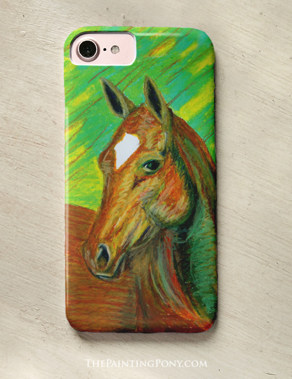 Chestnut Horse Head Art Equestrian Phone Case The Painting Pony