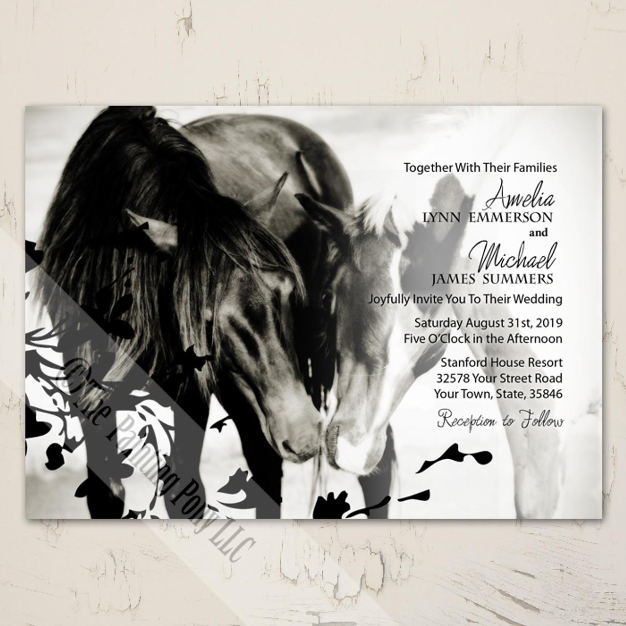 Pony Love Equestrian Wedding Invitation 10 Pk The Painting Pony
