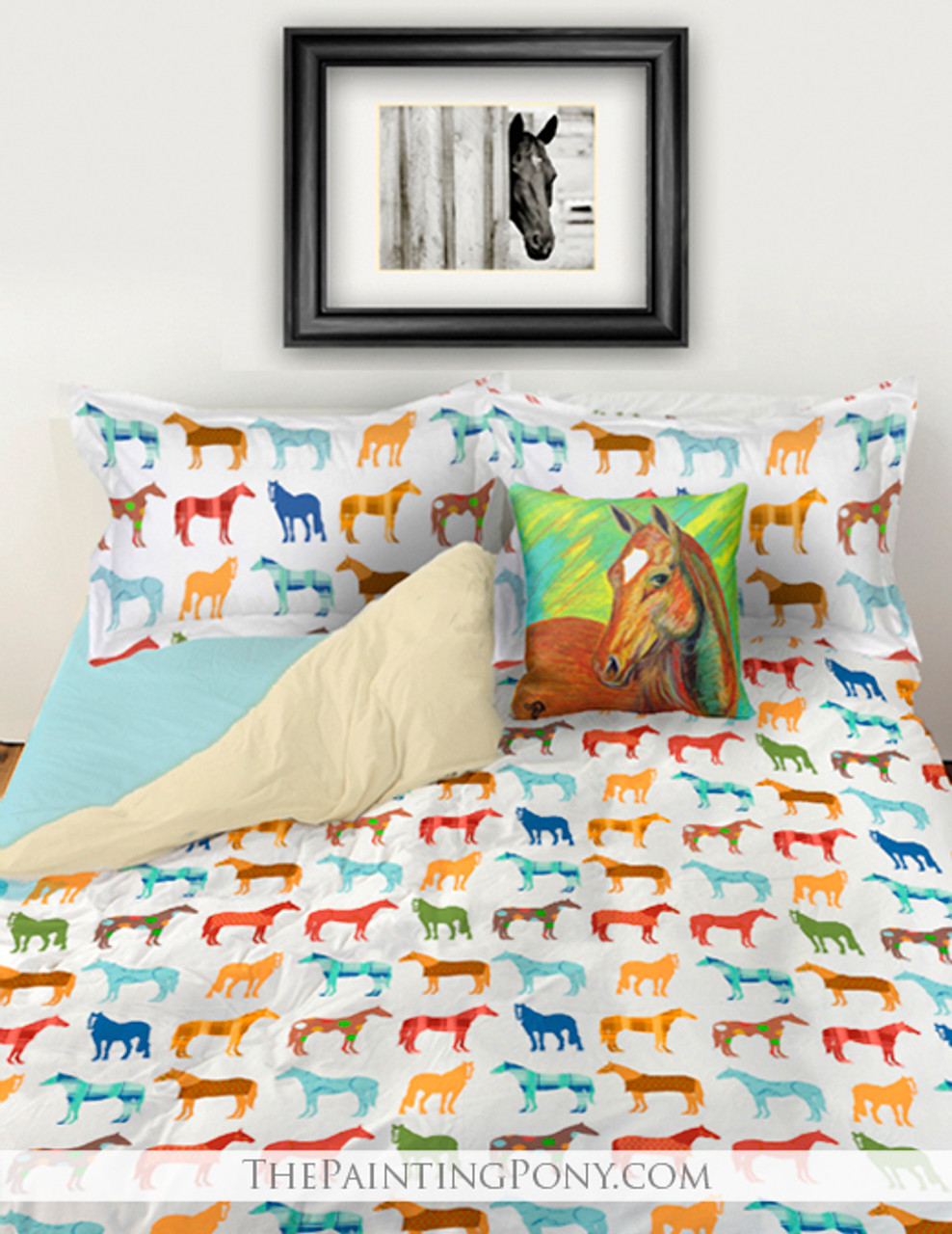 Fun Horses Boys Bedding Set