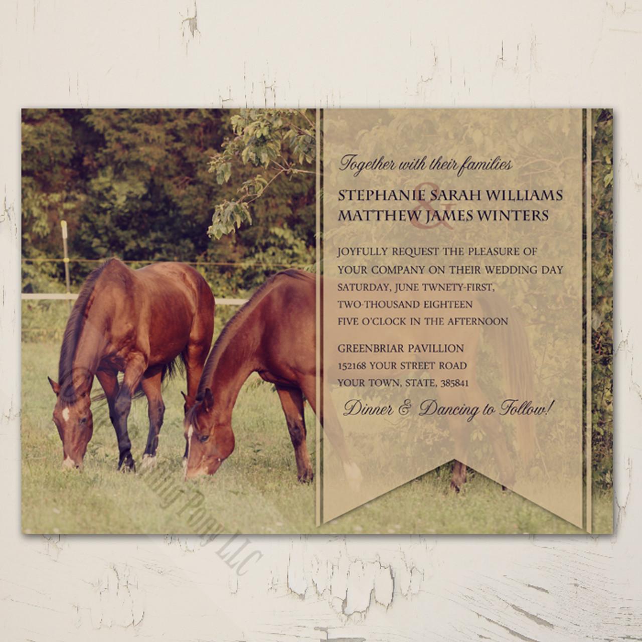 Country Horses Wedding Invitation 10 Pk The Painting Pony