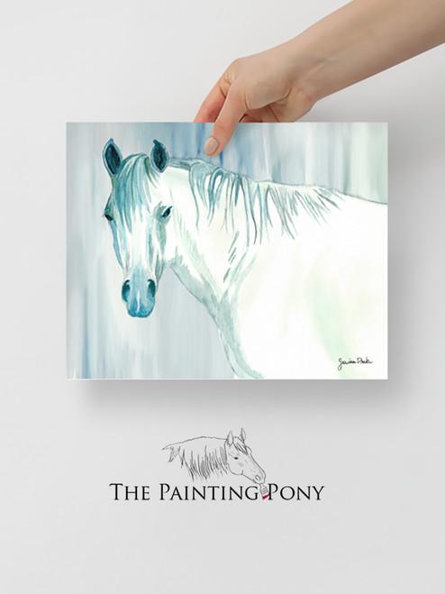 Blue Mare Fine Art Equestrian Print
