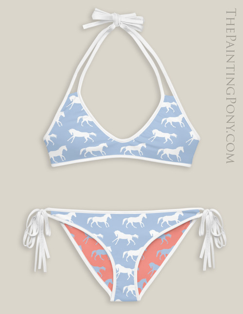 Galloping Horses Equestrian Swim Suit (More Colors Available)