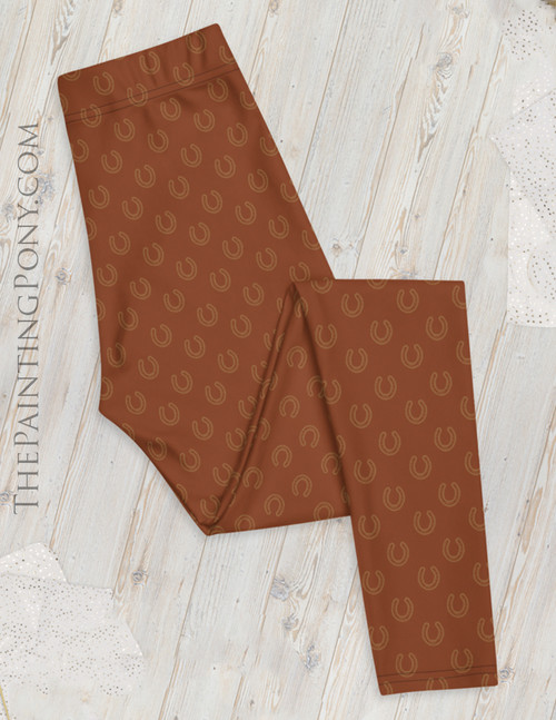 Horse Shoes Pattern Equestrian Leggings (other colors available)