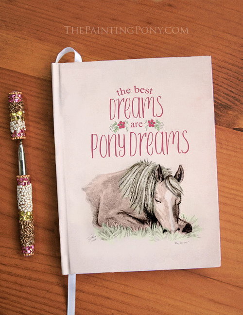 Pony Dreams Equestrian Designer Hardbound Journal